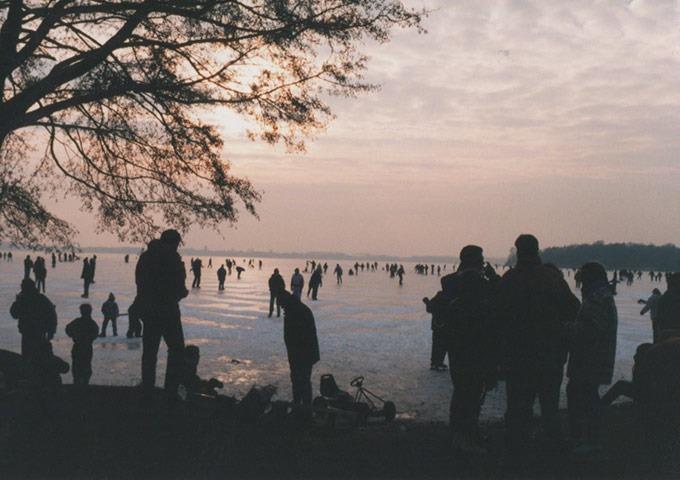 Schlittschuhfahren auf dem Bad Zwischenahner Meer