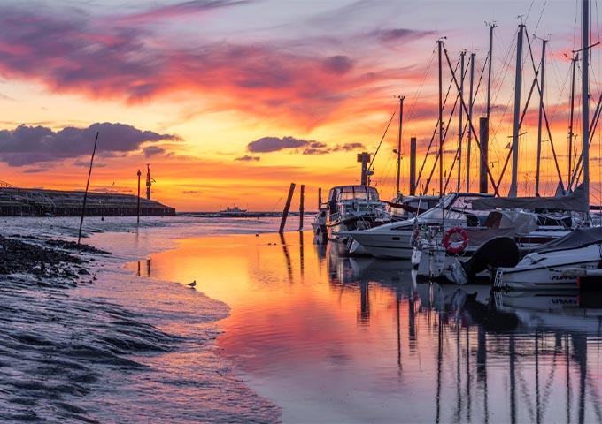 Sonnenaufgang Aussenhafen Horumersiel