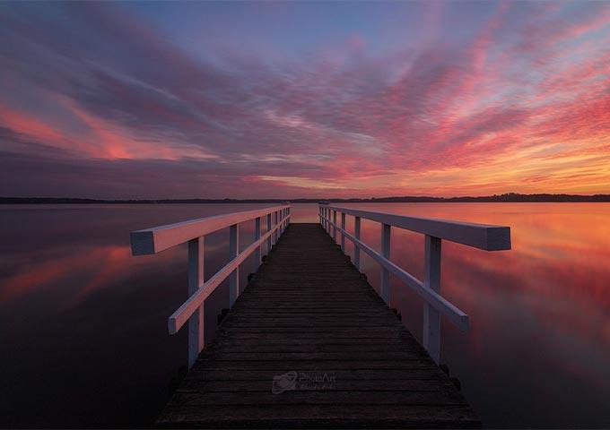 Sonnenaufgang Steg in Bad Zwischenahn
