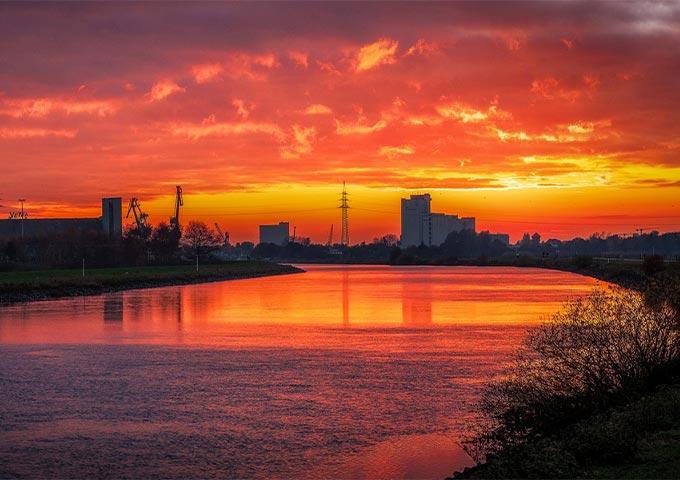 Sonnenuntergang an der Hunte